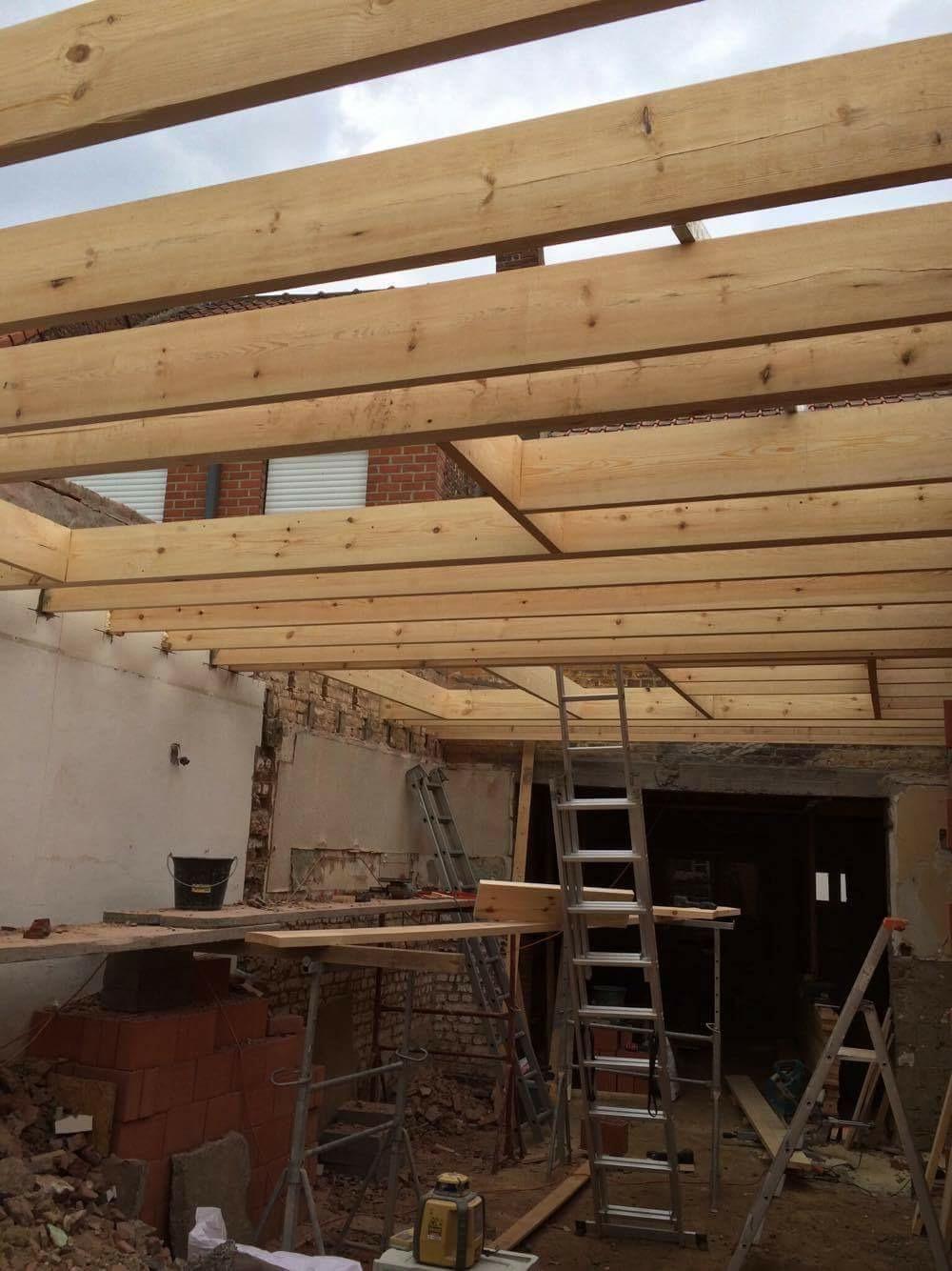 Charpente toiture plate à Mouscron (1)
