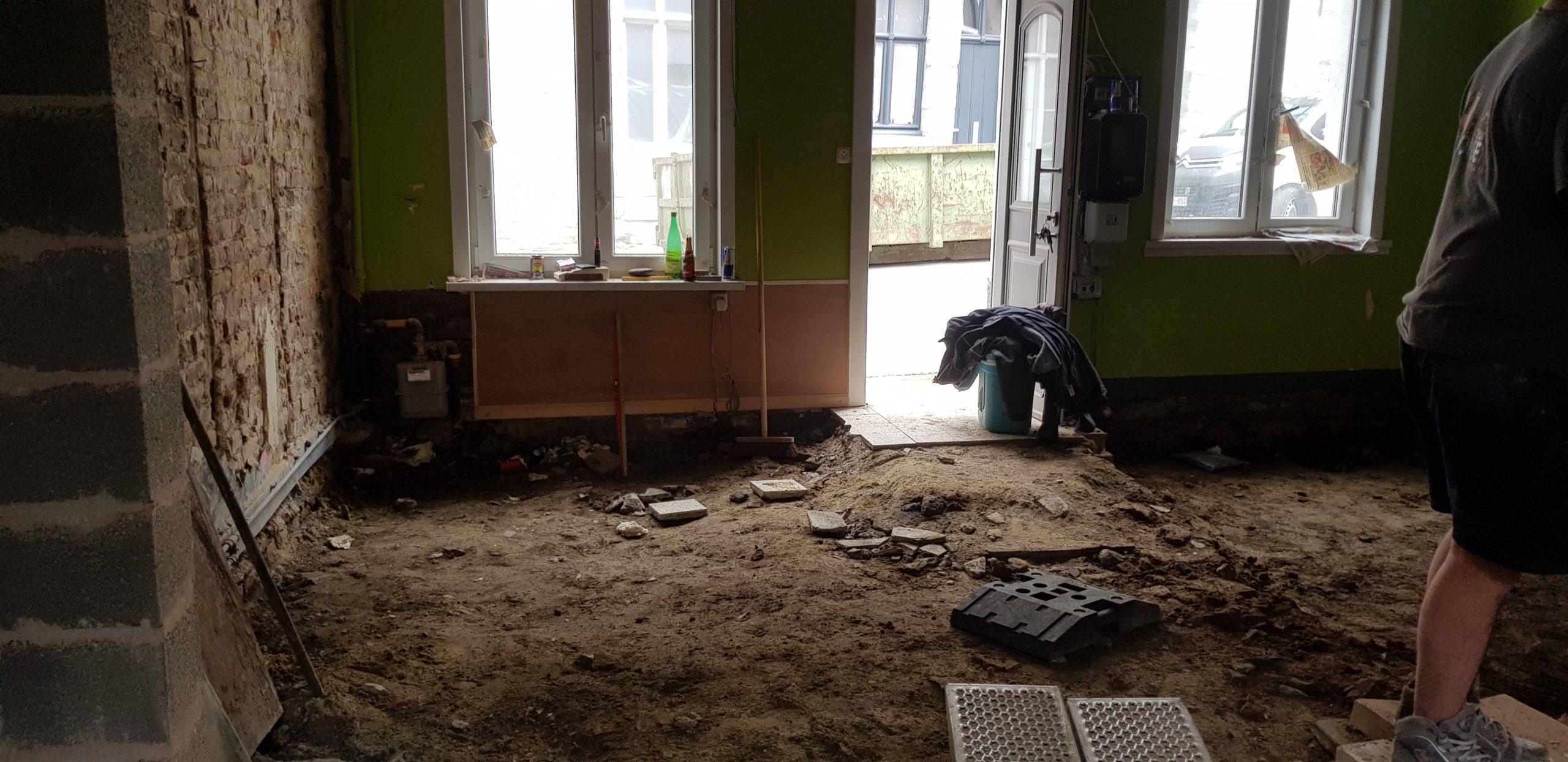 Rénovation maison de ville à Tournai