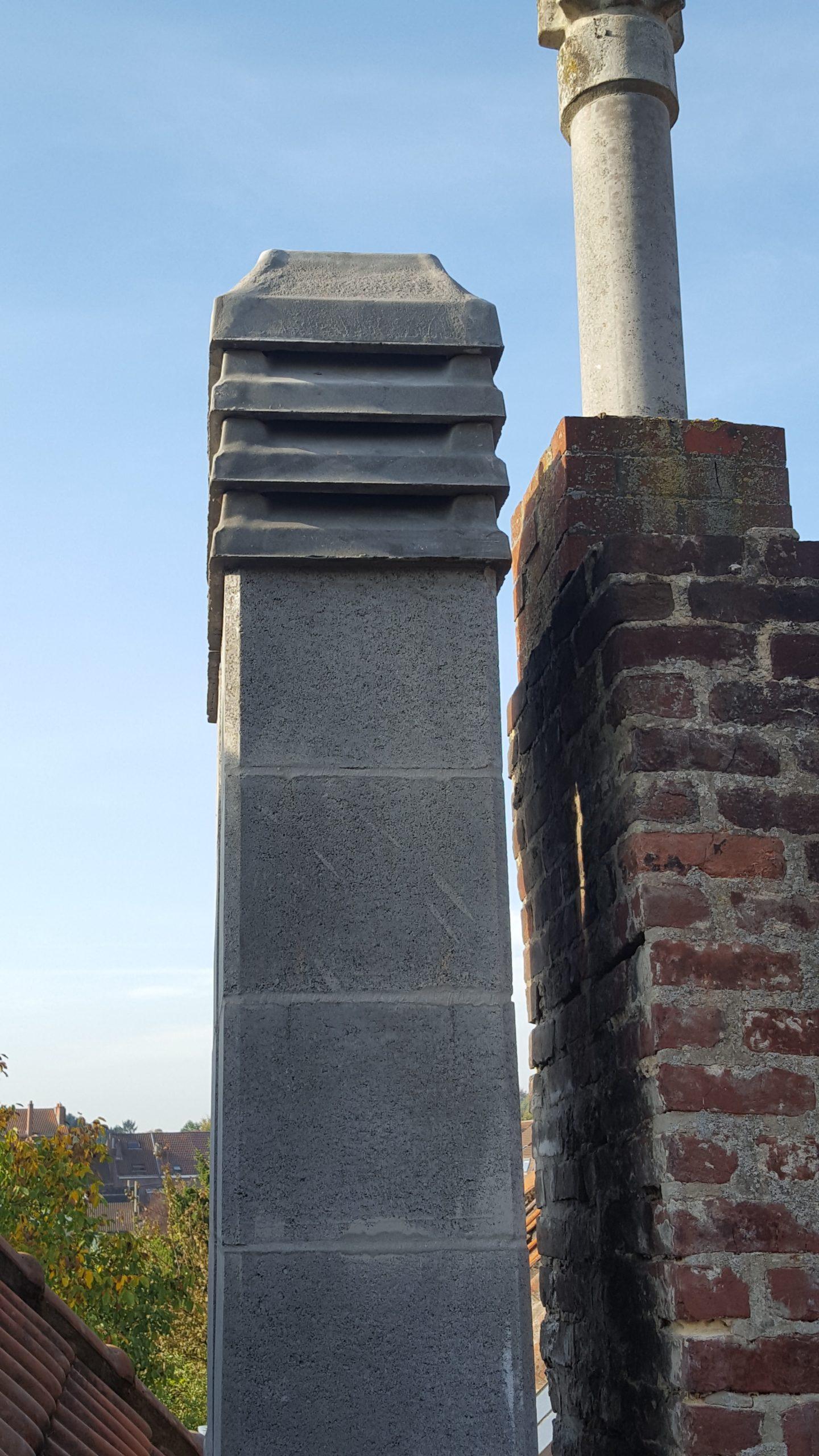 Remplacement corps de cheminée